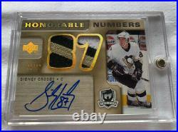 05-06 The cup Sidney Crosby Honorable Numbers Dual Patch Auto /87