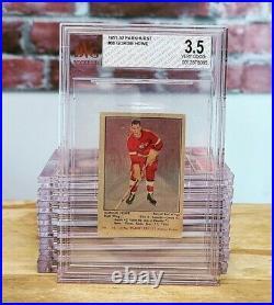 1951/52 Parkurst Parkie Gordie Howe RC Rookie Card BVG 3.5 Looks Incredible