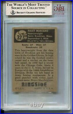 1951 Topps Ringside Boxing #32 Rocky Marciano Rookie Card RC BVG Ex MINT 6