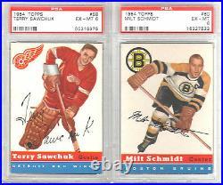 1954 1955 TOPPS High GRADE Hockey Card SET 19 CARDS GRADED many PSA NM 7