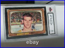 1966-67 TOPPS #35 Bobby Orr KSA 3 VG ROOKIE CARD
