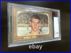 1966-67 Topps Bobby Orr #35 Rookie Card Bvg 4 Vg-ex