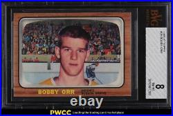1966 Topps Hockey Bobby Orr ROOKIE RC #35 BVG 8 NM-MT