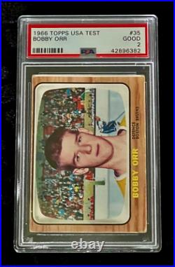 1966 Topps USA TEST #35 BOBBY ORR (RC) ROOKIE PSA (2) Investment Card