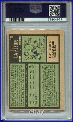 1971 OPC Hockey #148 Guy LaFleur La Fleur Rookie Card RC Graded PSA NM Mint 8 OC