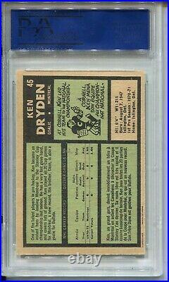 1971 OPC Hockey #45 Ken Dryden Rookie Card RC Graded PSA 7 O-Pee-Chee Canadiens