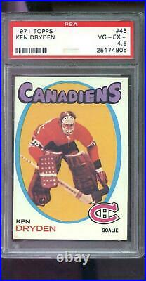 1971 Topps #45 Ken Dryden ROOKIE RC PSA 4.5 Graded Hockey Card NHL 1971-72