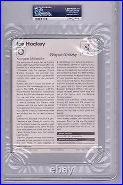 1977-1979 Wayne Gretzky Sportscaster Italy No. 77-10 Edmonton Oilers Psa 9 Mint