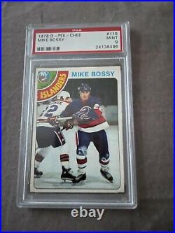 1978 O-Pee-Chee Mike Bossy (HOF) Rookie Card #115 PSA 9 Mint