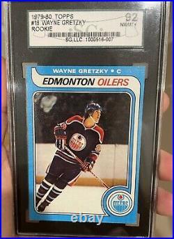 1979-1980 Topps #18 Wayne Gretzky Rookie Card. Graded SGC 92 = PSA 8.5