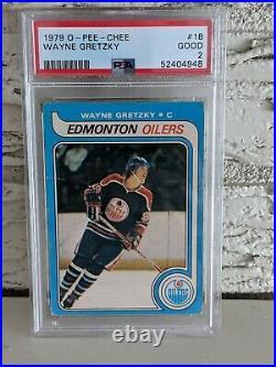 1979'79 O-PEE-CHEE Hockey #18 Wayne Gretzky Rookie Card RC Graded PSA 2