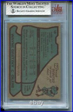 1979'79 Topps Hockey #18 Wayne Gretzky Rookie Card Graded BVG Ex Mint+ 6.5
