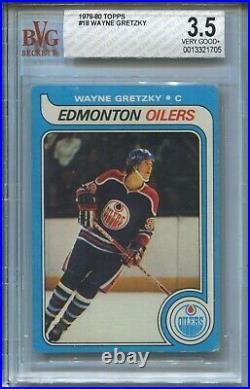 1979'79 Topps Hockey #18 Wayne Gretzky Rookie Card RC Graded BVG 3.5