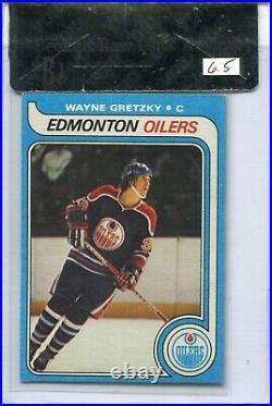 1979'79 Topps Hockey #18 Wayne Gretzky Rookie Card RC Graded BVG Ex Mint+ 6.5