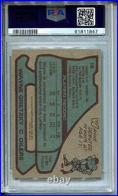 1979'79 Topps Hockey #18 Wayne Gretzky Rookie Card RC Graded PSA Ex Mint 6