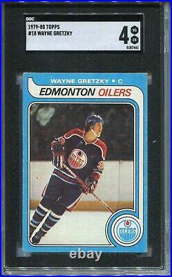 1979'79 Topps Hockey #18 Wayne Gretzky Rookie Card RC Graded SGC 4