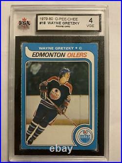 1979-80 OPC O-Pee-Chee Wayne Gretzky RC #18 Rookie Graded KSA 4 VGE