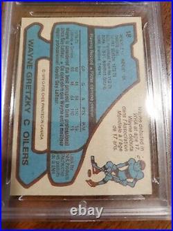 1979-80 O-PEE-CHEE #18 WAYNE GRETZKY ROOKIE CARD GMA 6.5! Nice center