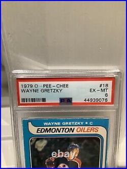 1979-80 O-PEE-CHEE PSA 6 Wayne Gretzky #18 Rookie RC EX -MT