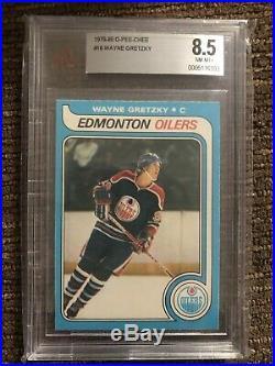 1979-80 O-Pee-Chee #18 Wayne Gretzky BVG 8.5 OPC Rookie Rc Edmonton Oilers