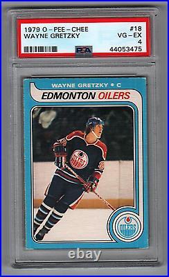 1979-80 O-Pee-Chee #18 Wayne Gretzky Oilers Rookie PSA 4 (1st Print)