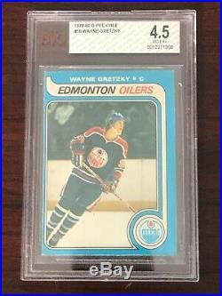 1979 80 O-Pee-Chee #18 Wayne Gretzky RC Rookie BVG 4.5 VG EX