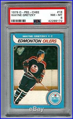 1979-80 O-Pee-chee #18 Wayne Gretzky Oilers Rookie NM-MT PSA 8 WOW