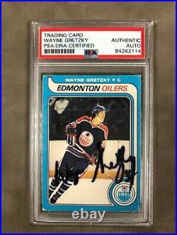 1979-80 O-pee-chee #18 Oilers Rookie Authentic Auto Wayne Gretzky Psa / Dna