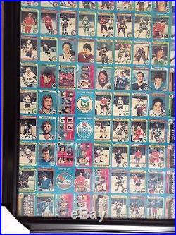 1979-80 O-pee-chee Complete Set 3 Uncut Sheet Framed Wayne Gretzky Rookie 1-396