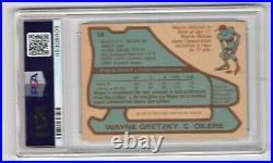 1979-80 O-pee-chee Opc #18 Rookie Rc Card Wayne Gretzky Psa 5 Blue Lines