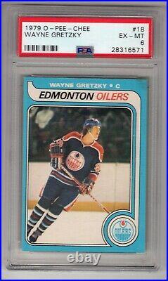 1979-80 O-pee-chee Opc #18 Rookie Rc Card Wayne Gretzky Psa 6 Oilers 6571 #2