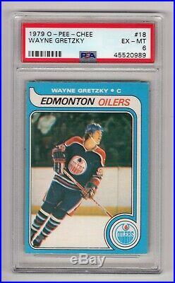 1979-80 O-pee-chee Opc #18 Rookie Rc Card Wayne Gretzky Psa 6 Oilers Beauty