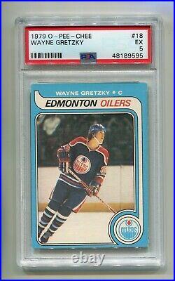 1979-80 O-pee-chee Opc Wayne Gretzky #18 Psa 5 Rookie Rc Ex Edmonton Oilers Hof