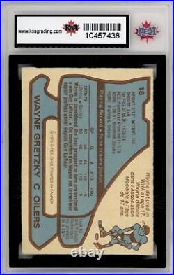 1979 80 Opc #18 Wayne Gretzky Rookie Card Ksa 7 Near Mint