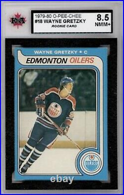 1979 80 Opc #18 Wayne Gretzky Rookie Card Ksa 8.5 Near Mint Mint+