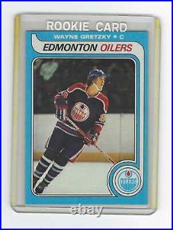 1979-80 Wayne GRETZKY Oilers Topps Hockey ROOKIE Card #18 RC PRISTINE & CLEAN