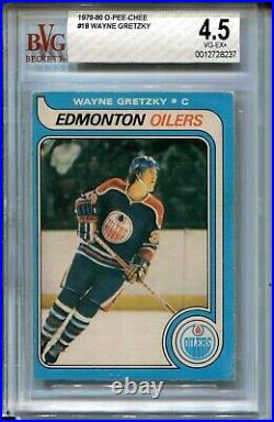 1979 OPC Hockey #18 Wayne Gretzky Rookie Card RC Graded BVG 4.5 O-Pee-Chee'79
