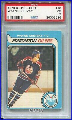 1979 OPC Hockey #18 Wayne Gretzky Rookie Card RC Graded PSA 3 O-Pee-Chee