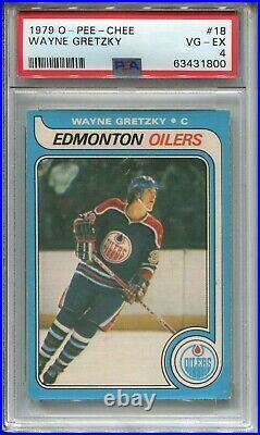 1979 OPC Hockey #18 Wayne Gretzky Rookie Card RC Graded PSA 4 O-Pee-Chee