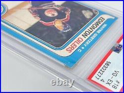 1979 O-PEE-CHEE OPC WAYNE GRETZKY #18 ROOKIE RC PSA 4 VG-EX EARLY 1st PRINT CARD