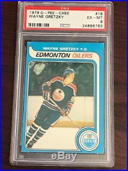 1979 O-Pee-Chee #18 Wayne Gretzky PSA 6 EX-MT ROOKIE RC