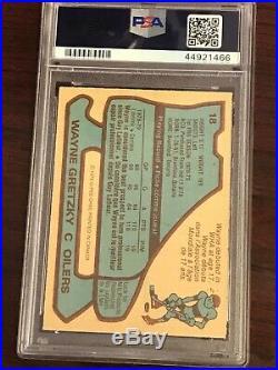 1979 O-Pee-Chee #18 Wayne Gretzky PSA 6 EX-MT ROOKIE RC 1st PRINT LINES