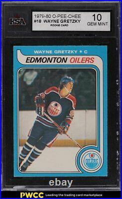 1979 O-Pee-Chee Hockey Wayne Gretzky ROOKIE RC #18 KSA 10 GEM MINT