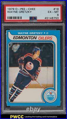 1979 O-Pee-Chee Hockey Wayne Gretzky ROOKIE RC #18 PSA 6 EXMT