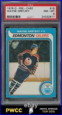 1979 O-Pee-Chee Hockey Wayne Gretzky ROOKIE RC #18 PSA 8 NM-MT (PWCC-A)