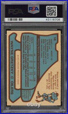 1979 O-Pee-Chee Hockey Wayne Gretzky ROOKIE RC #18 PSA 9 MINT