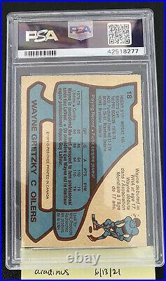 1979 O-Pee-Chee Wayne Gretzky #18 Rookie Card PSA 8 NM-MT OPC RC
