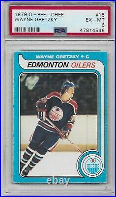 1979 O-pee-chee #18 Wayne Gretzky Edmonton Oilers Hof -psa 6 First Print
