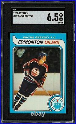 1979 Topps #18 Wayne Gretzky Rookie Card SGC EX-NM+ 6.5