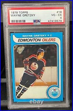 1979 Topps Hockey Wayne Gretzky ROOKIE RC #18 PSA 4 (Regrade)